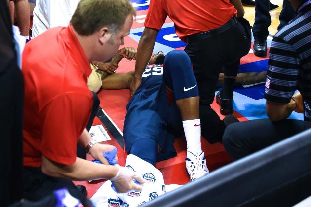 Paul George's Leg Injury Puts Focus on Placement of Hoop Stanchions