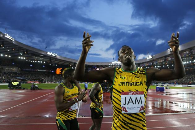 Usain Bolt, Jamaica Win Gold Medal in Commonwealth Games Men's 4X100 Relay