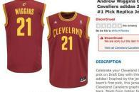 NBA Store Discontinues Andrew Wiggins Cavaliers Jerseys