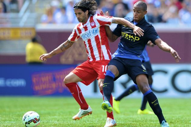 Manchester City vs. Olympiacos: Live Score, Highlights for ICC 2014
