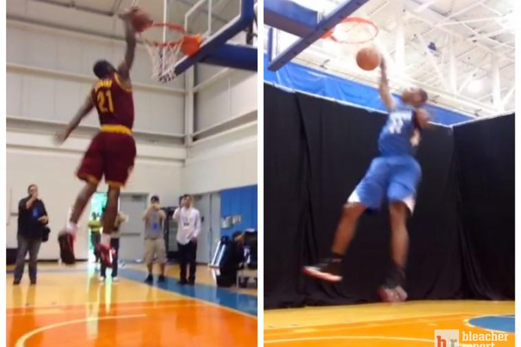 NBA Rookies Compete in Twitter Dunk-Off at NBA Rookie Day