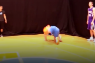 Thunder's Mitch McGary Has Awkward Dunk at NBA Roo…