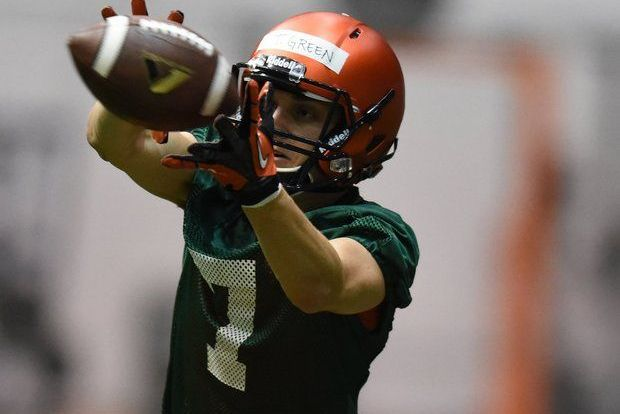 Syracuse Quarterback Troy Green Working out with Wide Receivers