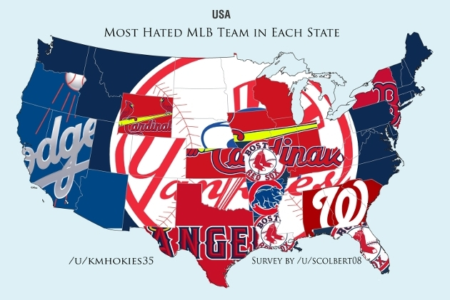 Maps Of The Usa Showing Most Hated Teams In Each State For Nfl Nba - Us-map-nfl-teams