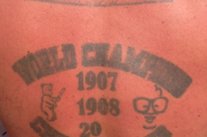 Chicago Cubs Fan Shows Best Way to Predict a Championship with a Tattoo
