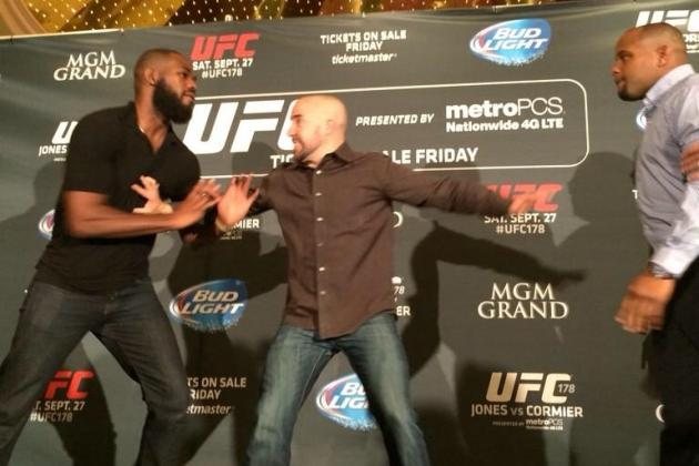 Jon Jones, Daniel Cormier Staredown Erupts in MGM Grand Brawl