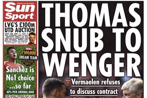 UK Back Pages: Liverpool's Not Finished, Thomas Vermaelen's Refusal and More