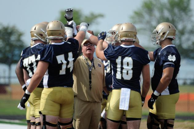 Notre Dame Football Working to Forge Toughness