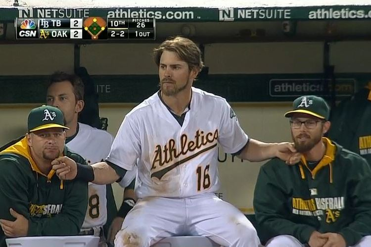 Josh Reddick Rubs Teammates' Beards for Good Luck, A's Get Walk-Off Hit