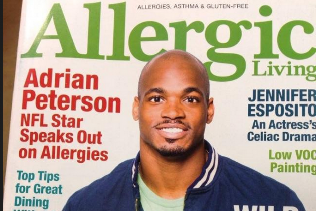 Adrian Peterson Would Like to Talk to You About Allergiesm