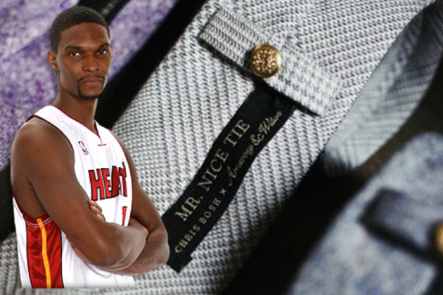 Chris Bosh Introduces Line of 'Mr. Nice Tie' Ties