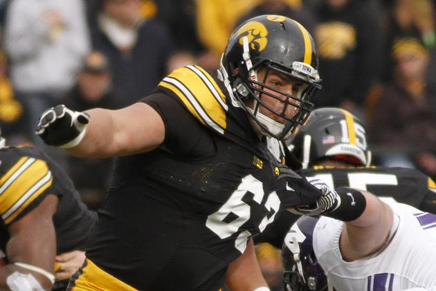 Blythe Ready to Join List of Legendary List on O-Line at Iowa