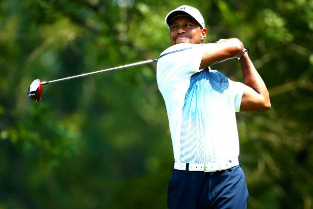 Tiger Woods at PGA Championship 2014: Live Practice Round Updates