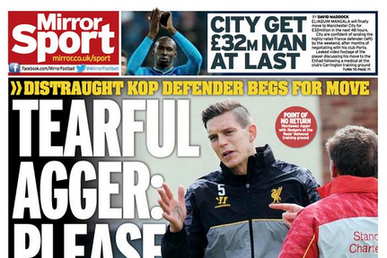 UK Back Pages: Daniel Agger, Thomas Vermaelen, Memphis Depay Rumours Heat Up
