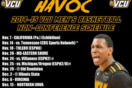VCU Releases 2014-15 Non-Conference Slate