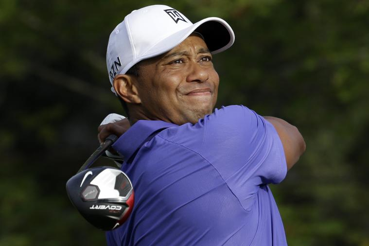 Disgusted Tiger Woods Drops F-Bomb After Tee Shot at 2014 PGA Championship