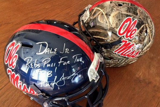 Ole Miss Sends Dale Jr. 'Solid' Lids