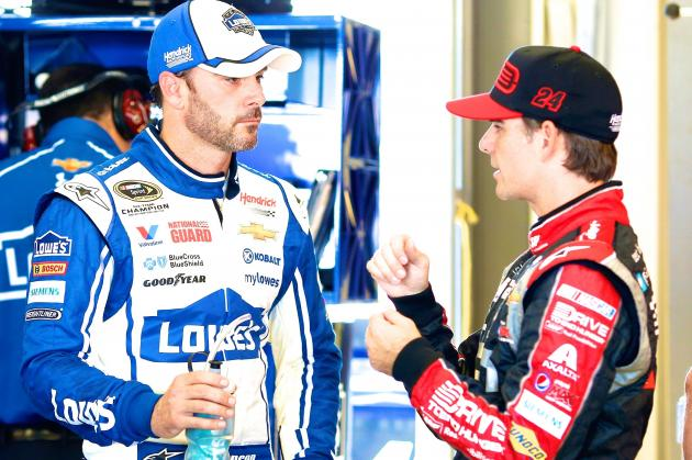 Jeff Gordon Shows He'll Give Jimmie Johnson Fits in NASCAR Sprint Cup Title Race