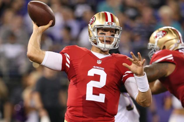 Blaine Gabbert Struggles in 49ers Debut