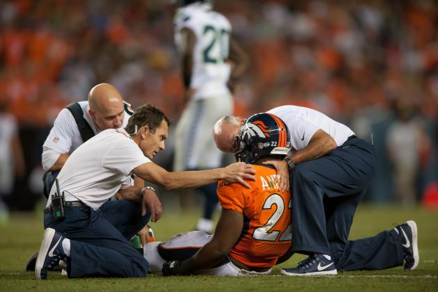 RB Anderson Leaves with Concussion