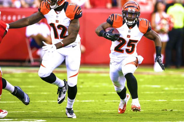 Preseason Week 1 Shows Bengals Have Good Problem on Their Hands at Running Back
