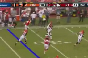 Dre Kirkpatrick Gets Pick-Six off of Chase Daniel (gif)
