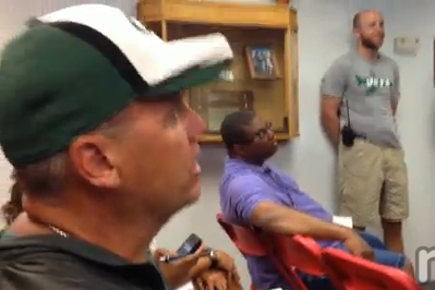 Rex Ryan Literally Switches Places with a Reporter During Jets Press Conference