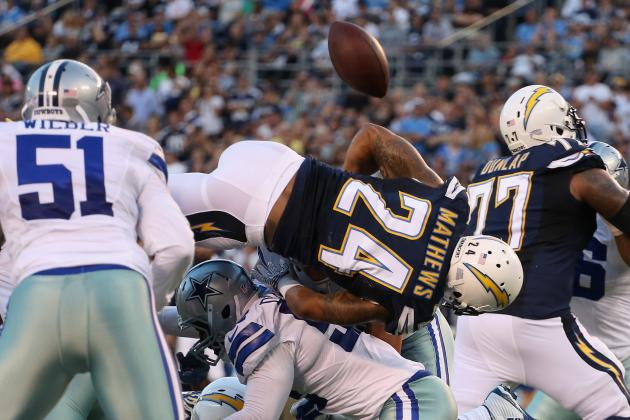 Fumble Won't Change Ryan Mathews' Role with Chargers