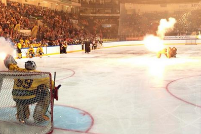 WATCH: Tuukka Rask 'Stops' Shot Fired from Actual Cannon