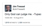 Jim Tressel Quotes Tupac on Twitter Again