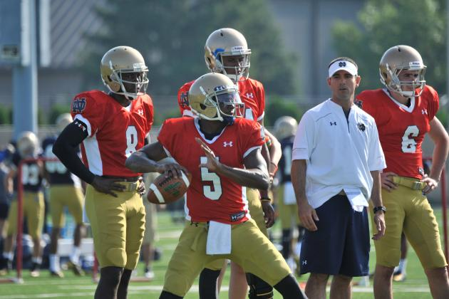 Breaking Down Notre Dame's Latest Depth Chart Moves Midway Through Fall Camp