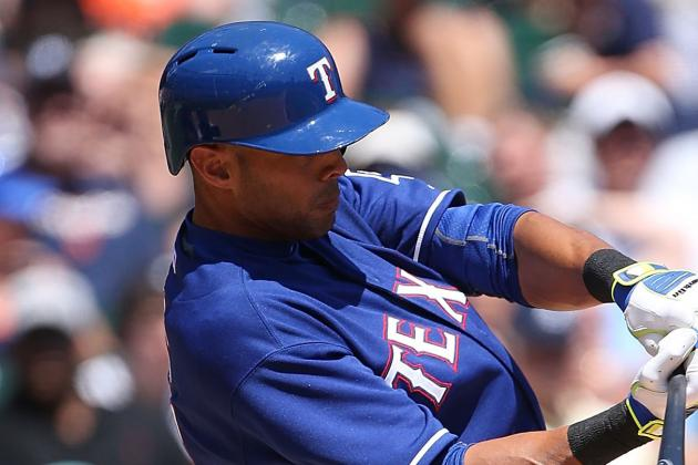 Rangers' Alex Rios Hopeful MRI Detects No Serious Ankle Injury