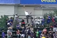Cubs Fan Makes Impressive Catch in Last Row of Wrigley Field Bleachers
