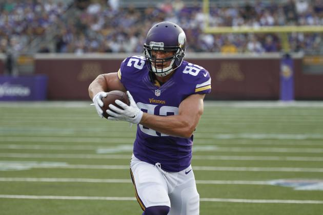 Fantasy Football 2014: Kyle Rudolph Isn't the Next Antonio Gates