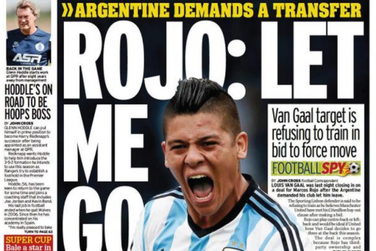 UK Back Pages: Manchester United in Hot Pursuit of Marcos Rojo