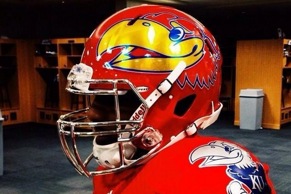 Kansas Football Unveils New Crimson and Chrome Uniforms
