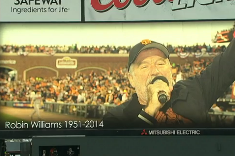 San Francisco Giants Pay Tribute to Robin Williams with Moment of Silence