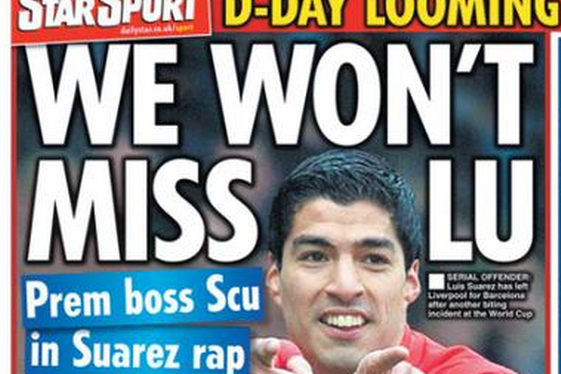 UK Back Pages: Luis Suarez Blasted, Vincent Kompany Signs His Future to City