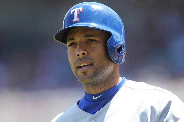 Alex Rios Back in Rangers' Lineup on Wednesday