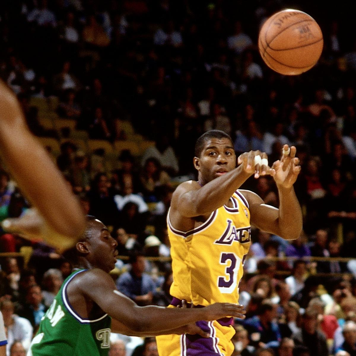 Celebrate Magic Johnson's 55th Birthday with Some of His Amazing Passes | Bleacher Report