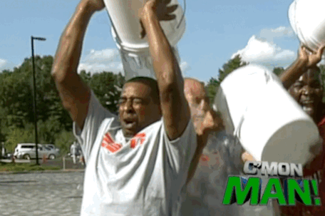 Cris Carter's Attempt at the #IceBucketChallenge Goes Poorly, Berman Gets Soaked
