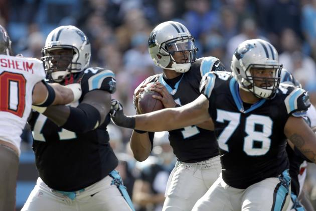 Panthers' Offensive Line Still Work in Progress