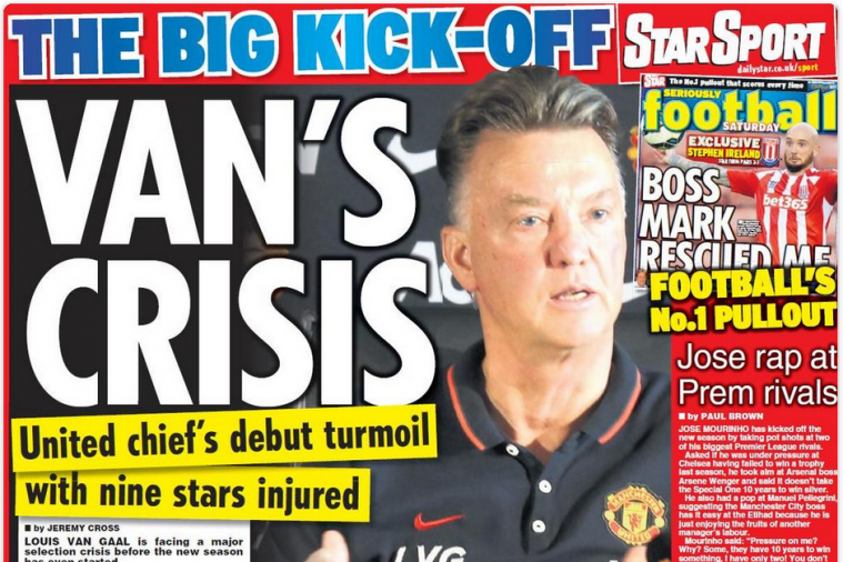UK Back Pages: An Injury Crisis Is Brewing at Manchester United