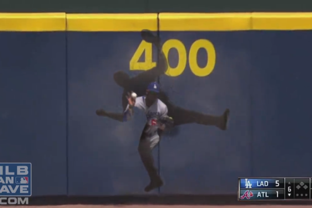 Yasiel Puig Shares Silly Video of Him Going Through Outfield Wall for a Catch