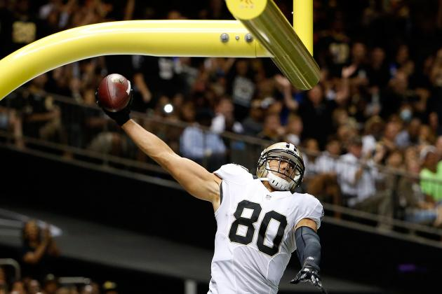 Jimmy Graham Fined by NFL for Dunking on Goalpost in Preseason