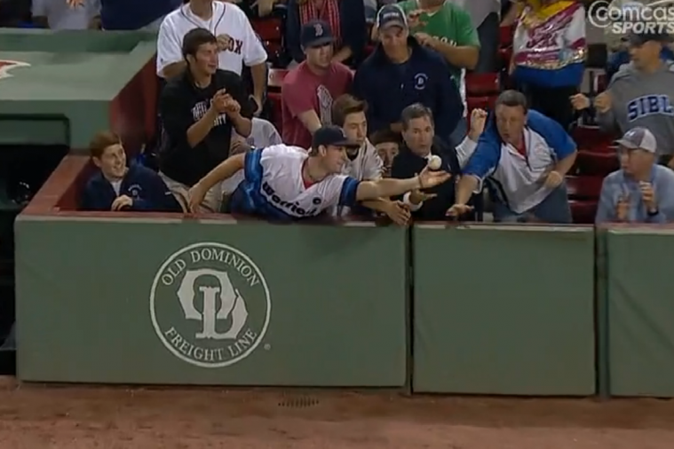 Boston Red Sox Fan Catches 2 Foul Balls vs. Astros