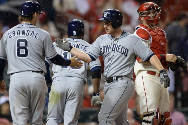 Gyorko Powers Padres Past Cardinals 9-5