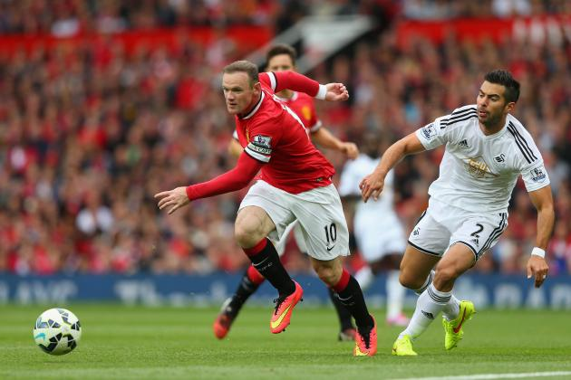 Manchester United's Wayne Rooney Reaches 4th Place on Club's League Goals List