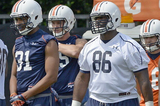 Tight End Jakell Mitchell Fights His Way into Auburn's Mix for Playing Time