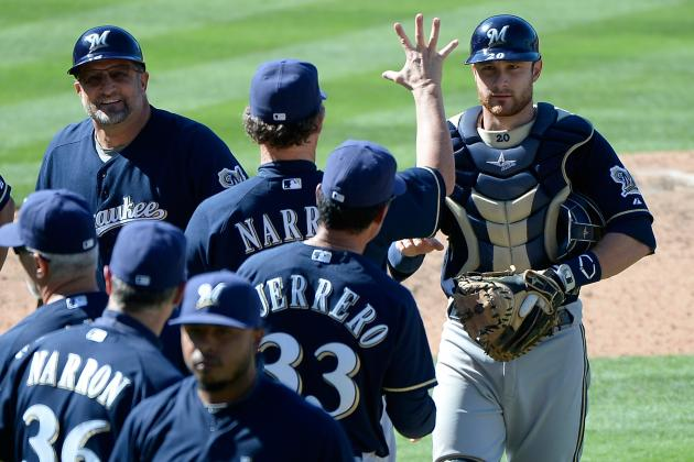 Lucroy's 5 RBIs Lead Brewers to Sweep of Dodgers